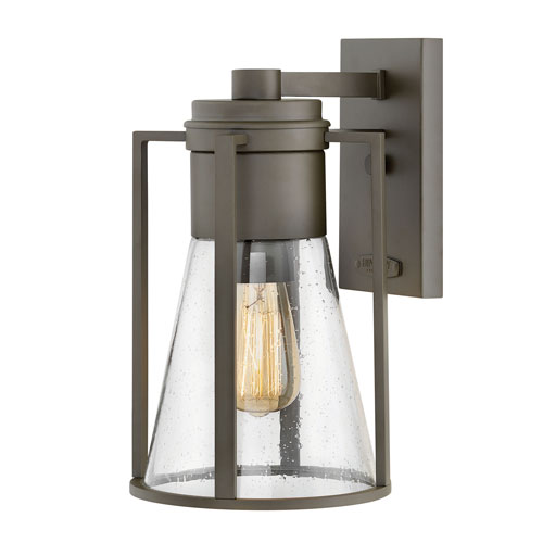 Hinkley Refinery Oil Rubbed Bronze One-Light Outdoor Medium Wall Mount
