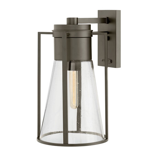Hinkley Refinery Oil Rubbed Bronze One-Light Outdoor Large Wall Mount