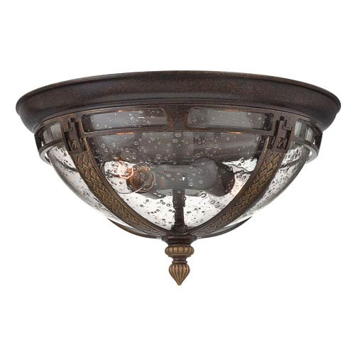 Key West Regency Bronze 15-Inch Two-Light Fluorescent Outdoor Flush Mount