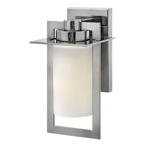 Hinkley Colfax Polished Stainless Steel 12-Inch One-Light Outdoor Wall Mounted