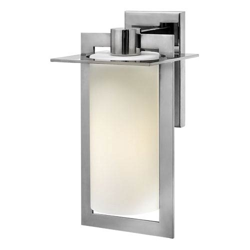 Hinkley Colfax Polished Stainless Steel 15-Inch One-Light Outdoor Wall Mounted