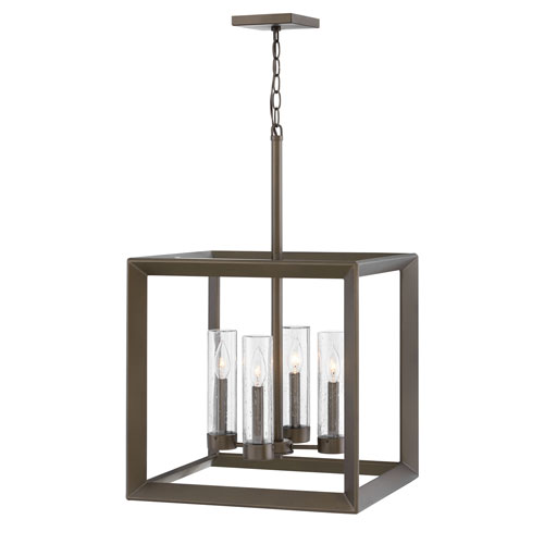 Rhodes Warm Bronze Four-Light Outdoor Pendant