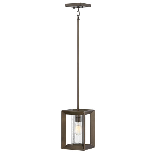Rhodes Warm Bronze One-Light Outdoor Pendant
