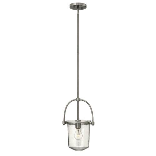 Hinkley Clancy Brushed Nickel One-Light Foyer Pendant