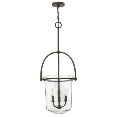 Hinkley Clancy Buckeye Bronze Three Light Foyer Pendant