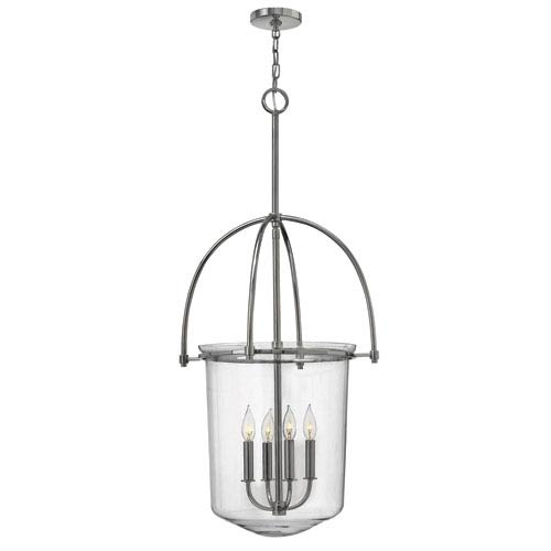 Hinkley Clancy Polished Nickel Four Light Foyer Pendant