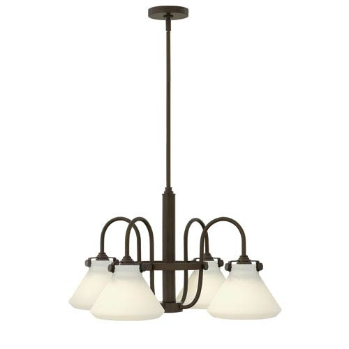 Hinkley Congress Oil Rubbed Bronze Four Light Chandelier