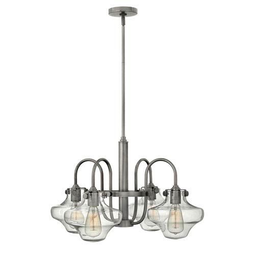 Hinkley Congress Antique Nickel 16-Inch Four Light Chandelier