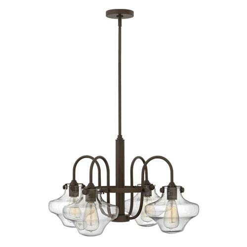Hinkley Congress Oil Rubbed Bronze 16-Inch Four Light Chandelier