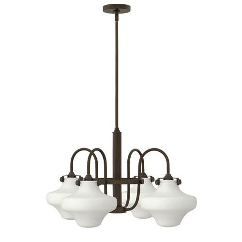 Hinkley Congress Oil Rubbed Bronze 27-Inch Four Light Chandelier