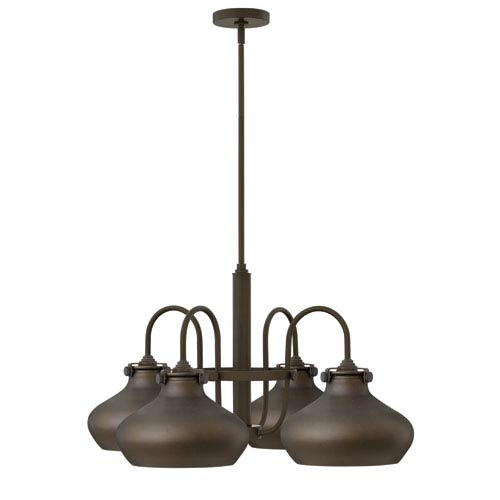Hinkley Congress Oil Rubbed Bronze 28-Inch Four-Light Chandelier