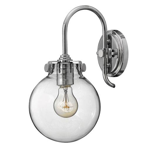 Hinkley Congress Chrome 13.5-Inch One-Light Sconce