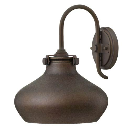 Hinkley Congress Oil Rubbed Bronze 13-Inch One-Light Sconce with Metal Shade