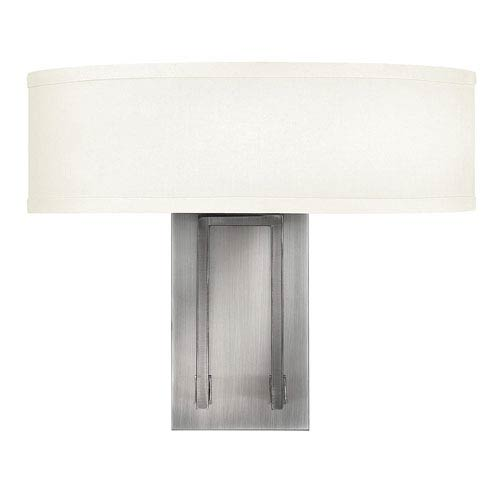 Hampton Antique Nickel Two-Light Sconce