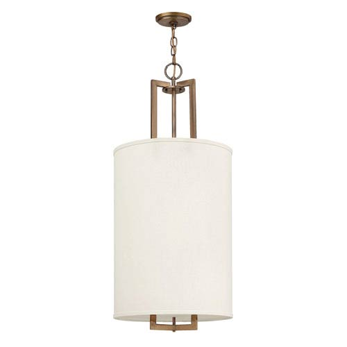 Hampton Brushed Bronze Lantern Pendant