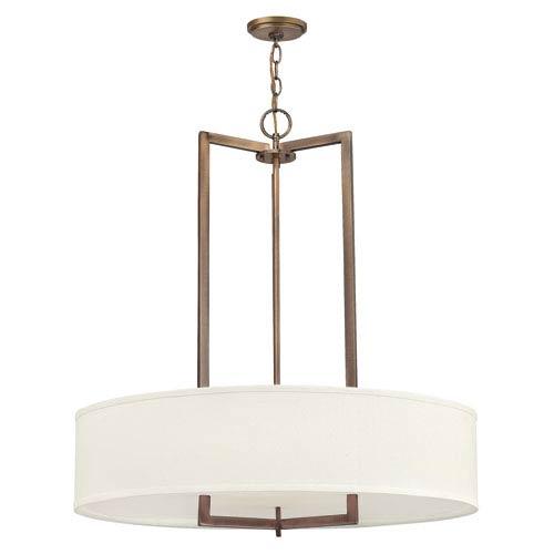 Hinkley Hampton Brushed Bronze 33-Inch LED Three Light Pendant