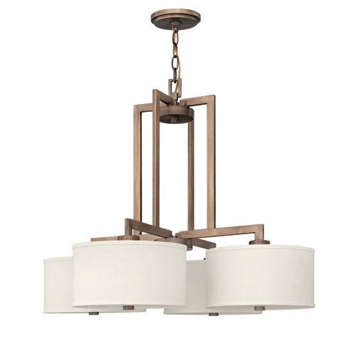 Hinkley Hampton Brushed Bronze 29-Inch Four-Light Chandelier