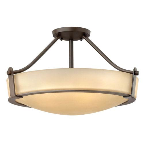 Hinkley Hathaway Olde Bronze Three Light LED Semi-LED Flush Mount