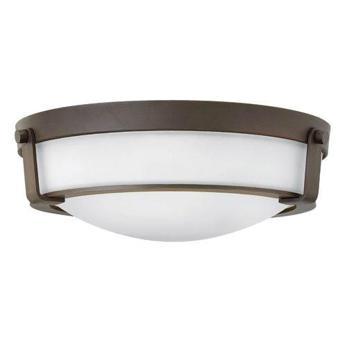 Hathaway Olde Bronze 16-Inch One-Light LED Flush Mount