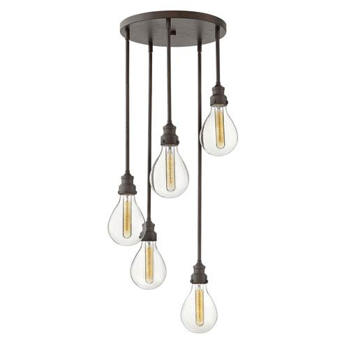 Denton Industrial Iron Five-Light Pendant