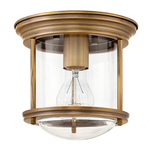 Hadley Brushed Bronze 8-Inch One-Light Flush Mount