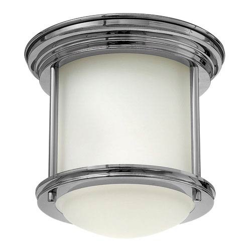 Hinkley Hadley Chrome One-Light Foyer Flush Mount