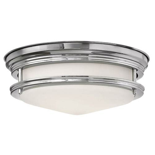 Hadley Chrome Two Light Flush Mount