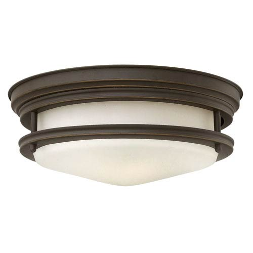 Hadley Oil Rubbed Bronze 12-Inch Two-Light Flush Mount