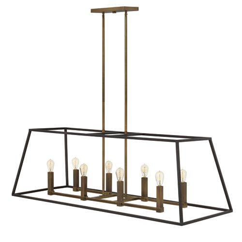Fulton Bronze Eight Light Foyer Pendant