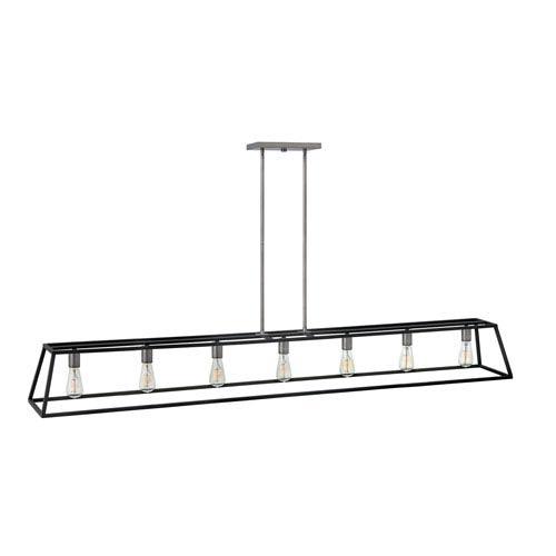 Fulton Aged Zinc Seven-Light Linear Pendant