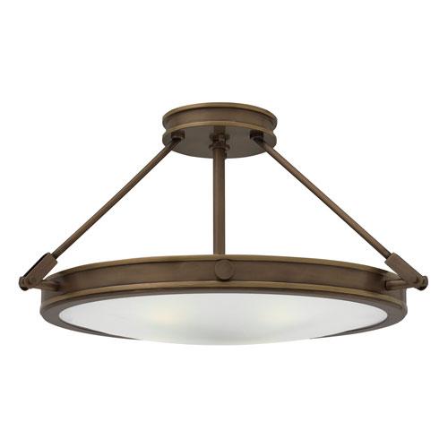 Collier Light Oiled Bronze 22-Inch Four-Light Semi-Flush Mount