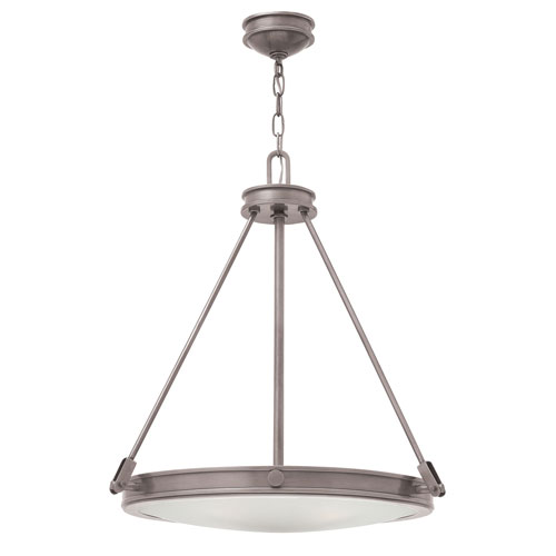 Collier Antique Nickel 22-Inch Four-Light Inverted Pendant