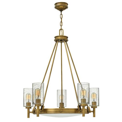 Collier Heritage Brass Five-Light Chandelier