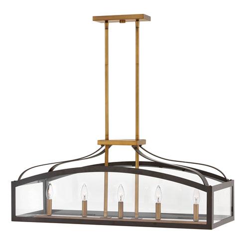 Clarendon Bronze Five-Light Linear Pendant