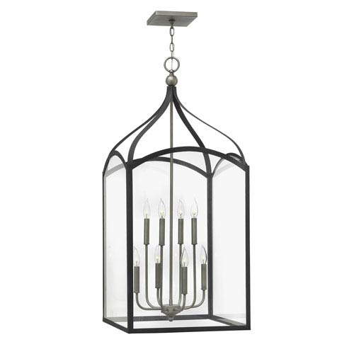 Clarendon Aged Zinc Eight-Light Foyer Pendant