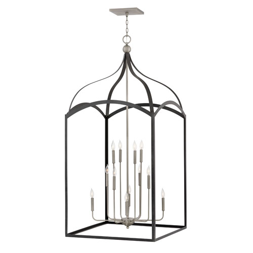 Clarendon Aged Zinc Twelve-Light Chandelier