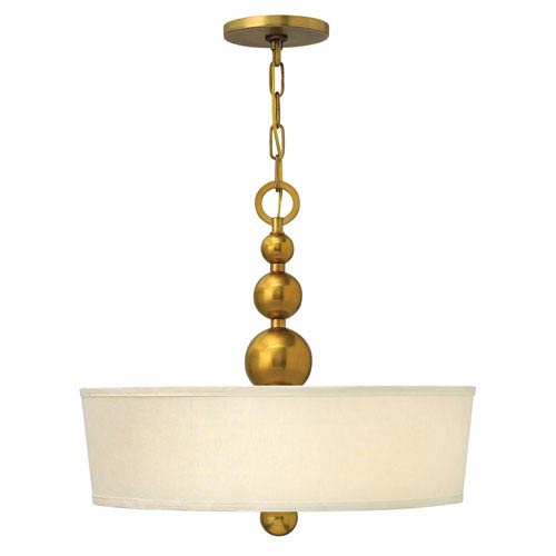 Zelda Vintage Brass Three-Light Invert Pendant