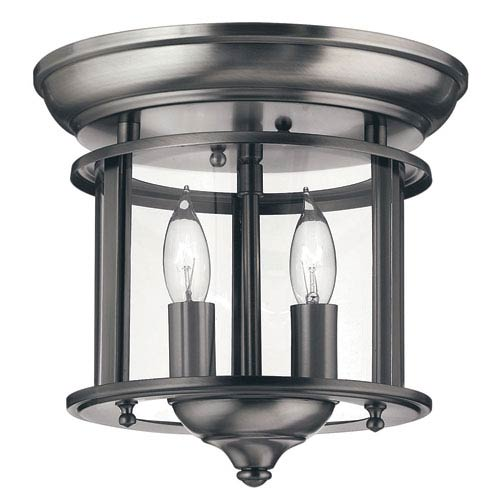 Gentry Small Pewter Flush Mount Ceiling Light