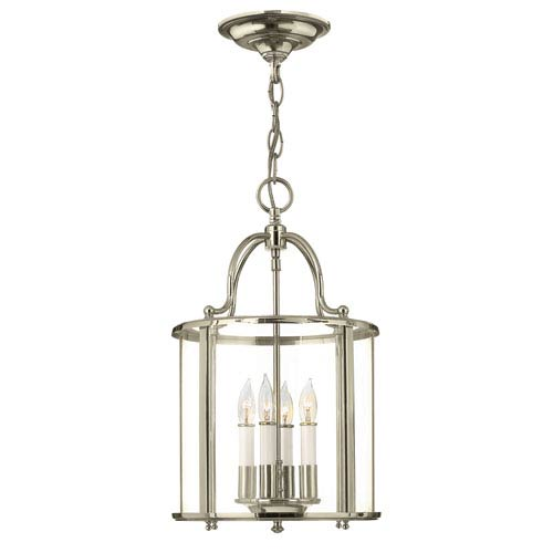 Gentry Polished Nickel Four-Light Foyer Pendant