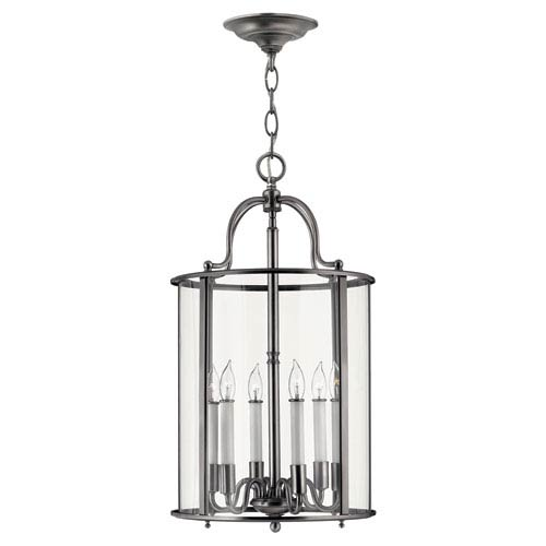 Gentry Large Pewter Foyer Pendant