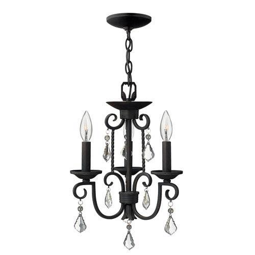 Casa Olde Black Three-Light Chandelier