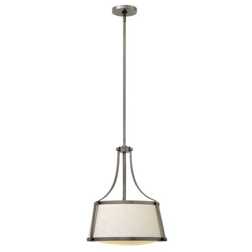 Hinkley Charlotte Antique Nickel 16-Inch Three-Light Foyer Pendant