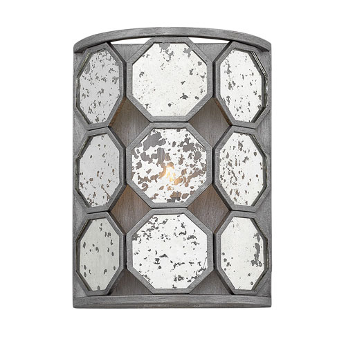 Lara Brushed Silver 9-Inch One-Light Wall Sconce