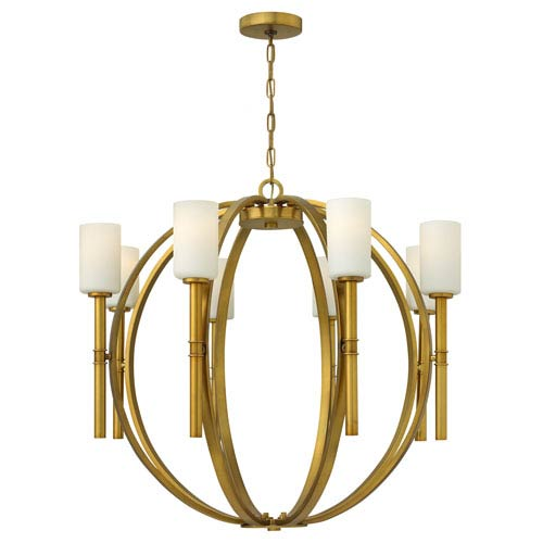 Margeaux Vintage Brass Eight-Light Chandelier