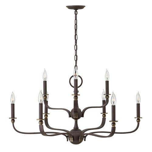 Ruthorford Oil Rubbed Bronze Nine-Light Chandelier