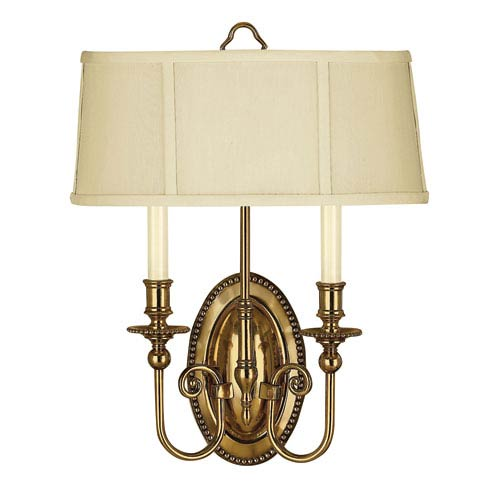 Oxford Burnished Brass Two-Light Wall Sconce