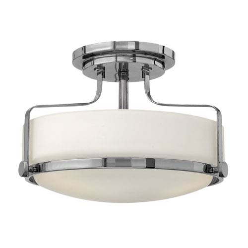Harper Chrome Three Light Semi Flush Mount