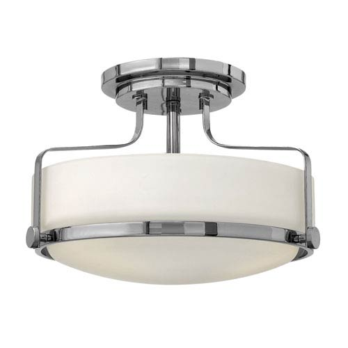 Hinkley Harper Chrome Two Light LED Foyer Semi Flush