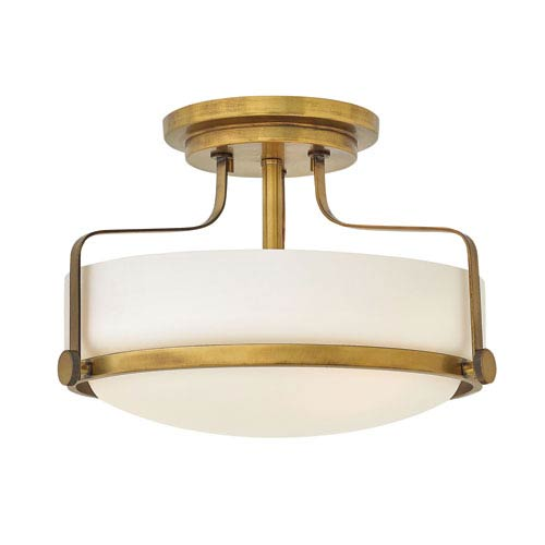 Harper Heritage Brass 15-Inch Semi Flush Mount
