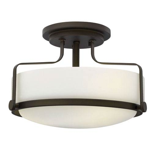 Harper Oil Rubbed Bronze Three Light Semi Flush Mount